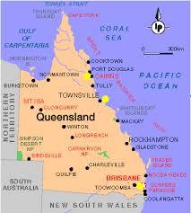 map of queensland maps of queensland