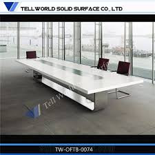 White Meeting Table Hot Sale White Conference Table Modern Design White Conference