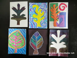 thanksgiving art project pink and green mama leaf themed artist trading cards a multi