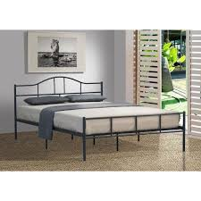 brilliant jovy king size metal bed frame in dark grey buy king