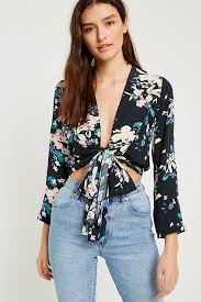 tie front blouse rolla s floral tie front blouse outfitters