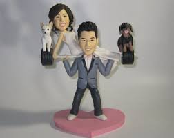weight lifting cake topper weight lifting wedding cake topper