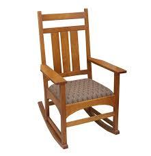 Mission Oak Rocking Chair Stickley Oak Rocking Chair Ebth