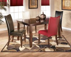 red dining room table and chairs 15841