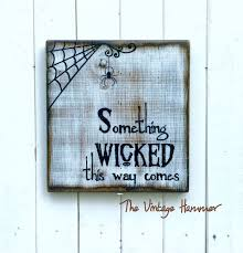 wicked halloween hand painted signs spider web spider wood