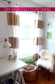 Gold Striped Curtains Diy Gold Striped Curtains By Of Squirrelly Minds Project