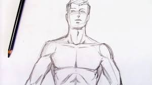 how to draw the male torso step by step youtube