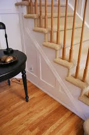 lovely board and batten wainscoting with white stained wooden