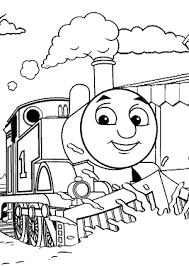 thomas friends coloring pages train kids printable free
