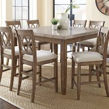 tall dining table solid wood counter height dining table by