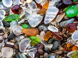 beach covered in sea glass business insider