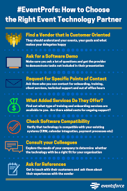 infographic how to choose the right event technology partner