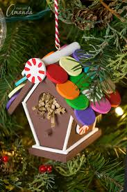 gingerbread birdhouse ornament make an ordinary birdhouse festive