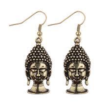 thailand earrings new arrival 2017 silver gold buddha dangle earrings women fashion