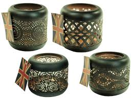 metal tea light holders set of 4 moroccan copper metal tea light candle holder garden lantern