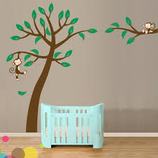 Nursery Wall Tree Decals Baby Jungle Wall Decals Children Wall Decal Safari Tree Decal