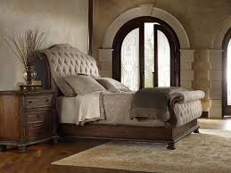 Room Place Bedroom Sets King Tufted Sleigh Bed With Upholstered Headboard And Footboard By