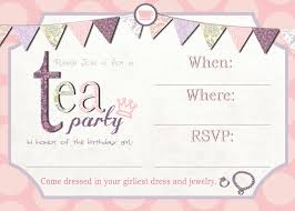 High Tea Kitchen Tea Ideas Tea Party Birthday Invitations Free Printable Template Tea Party