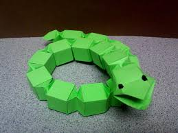 Origami Snake - modular origami block snake by theorigamiarchitect on deviantart