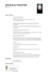 Sample Resume Examples For College Students by Student Ambassador Resume Samples Visualcv Resume Samples Database