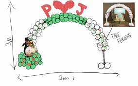wedding arches singapore wedding arch drawing singapore balloon decoration