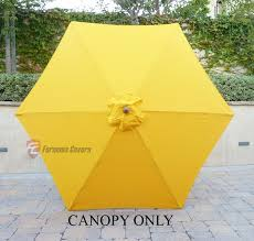 Replacement Patio Umbrella Patio Umbrella Replacement Cover Canopy 6 Ribs Yellow