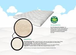 Mattress Topper Luxury Alpaca Mattress Luxury Wool Mattress Topper Reversible Natural Cotton Quilted