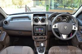 renault cars duster 2016 renault duster facelift amt dashboard review indian autos blog