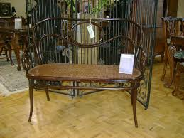 Tom Scheerer by Spotted Bentwood Thonet Bench Michael Penney Style