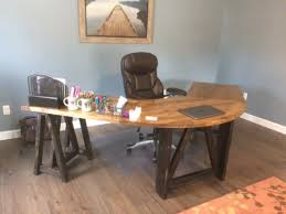 U Shaped Reception Desk L Shaped Sawhorse Desk U Shaped Table Rustic Corner Desk