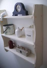 large 70cm shabby chic cream kitchen shelves bathroom shelves