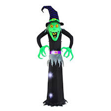 8 ft halloween inflatable witch ghost decoration lantern for home