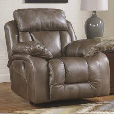 real leather swivel recliner chairs ashley furniture loral sable contemporary faux leather swivel