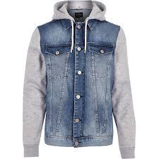 jean sweater jacket mens coats jackets jackets for river island