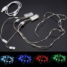 Led Strip Lights Battery Powered 2x 60cm Usb Charging Battery Powered Rgb Led Strip Light For Shoes