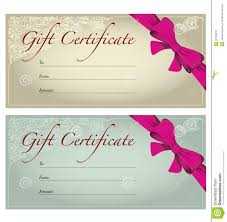 personalized gift certificates template free sample termination