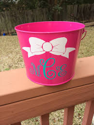 easter buckets monogrammed easter buckets easter basket monogram easter