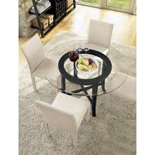 Halo Dining Chairs Halo Ebony Round Dining Table With 60