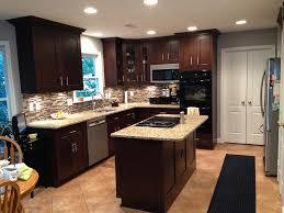 Dark Mahogany Kitchen Cabinets Kitchen Incredible L Shape Kitchen Decoration Using Mahogany