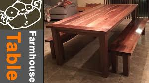 walnut farmhouse table with breadboard ends youtube