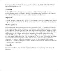 professional pediatrician templates to showcase your talent