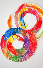 art and craft for kids easy and colorful paper plate snakes preschool art snake and craft