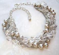 pearl crystal statement necklace images Wedding statement necklace jpg