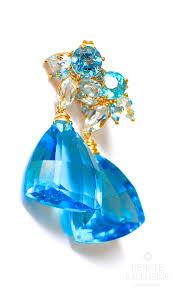 topaz earrings swiss blue topaz earrings renate exclusive