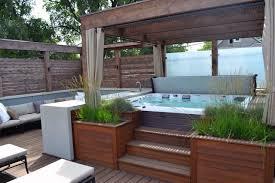 Patio Designs Under Deck by Bathroom Wooden Deck With Tub Retreat Using Wooden Pergola
