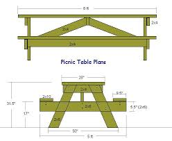 amazing 4 person picnic table plans for a picnic table