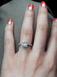princess cut engagement rings with halo princess cut halo engagement ring weddingbee