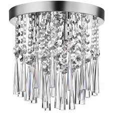 home decorators collection 3 light chrome and crystal flushmount