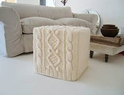 Covers For Ottomans Warm Autumn Idea Knitted Furniture Cover топла есенна идея
