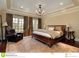 master bedroom with tray ceiling royalty free stock images image